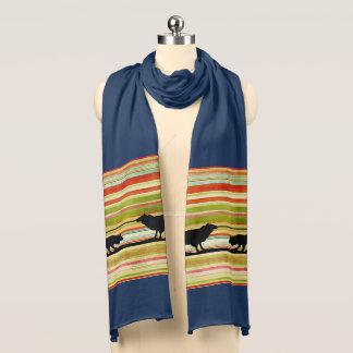 Stilvoller Border-Collie Jersey-Baumwollschal 100% Schal