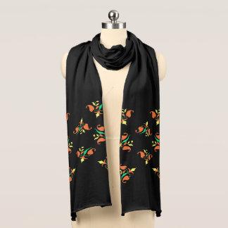 Stilvoller bunter Muster-Jersey-mit Blumenschal Schal