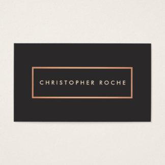 Stilvoller Designer-Kupfer-Rahmen-warmes Schwarzes Visitenkarte