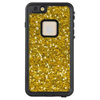 Stilvoller funkelnd Imitat-GoldGlitter LifeProof FRÄ' iPhone 6/6s Plus Hülle