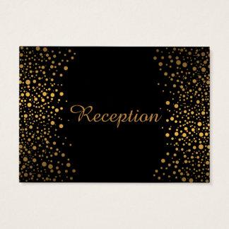 Stilvoller GoldConfetti punktiert | Schwarzes Visitenkarte