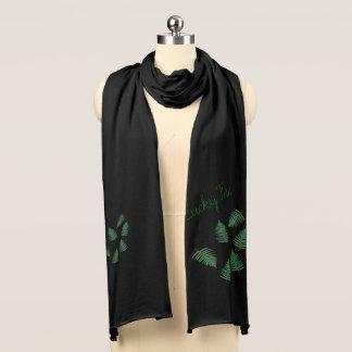 Stilvoller grüner glücklicher Farn-Jersey-Schal Schal