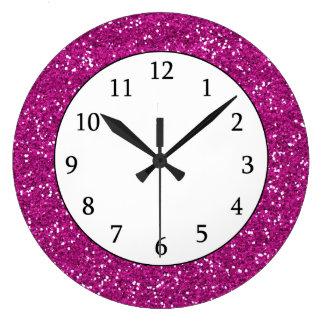 Stilvoller heißes Rosa-Glitter Uhren