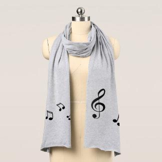 Stilvoller Musiknotenclef-Jersey-Schal Schal