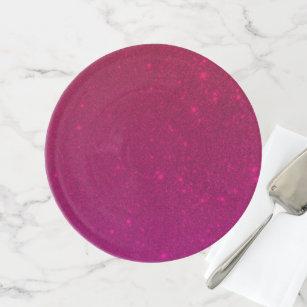 Stilvoller Rosa Kuchen Stand Tortenplatte