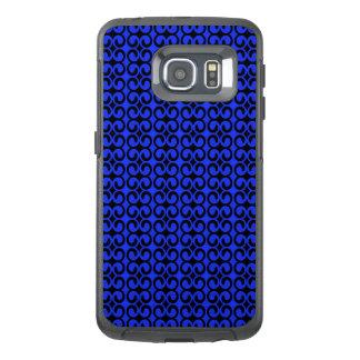 Stilvolles blaues und schwarzes Muster