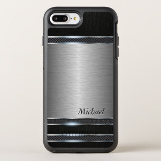 Stilvolles Edelstahl-Metall mit ledernem Blick OtterBox Symmetry iPhone 7 Plus Hülle