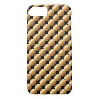 Stilvolles goldenes Perlen-Tupfen-Muster iPhone 8/7 Hülle