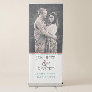 Stilvolles Hochzeits-Empfangs-Foto-einziehbare Ausziehbarer Banner