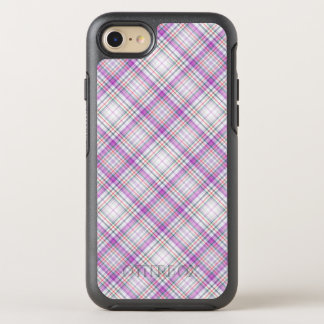 Stilvolles lila checkered Muster OtterBox Symmetry iPhone 8/7 Hülle