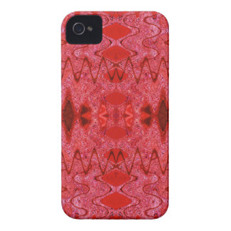Stilvolles rotes Muster iPhone 4 Case-Mate Hülle