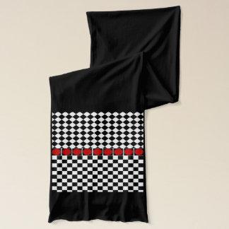 Stilvolles Schwarz-weißes halbes Schal