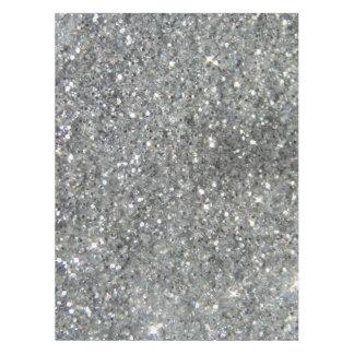 Stilvolles silbernes Glitterglitz-Foto Tischdecke