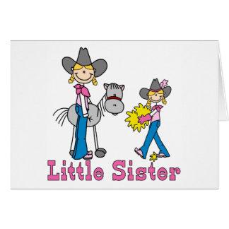 Stock-Cowgirls-kleine Schwester Karte
