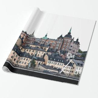 Stockholm-Ansicht Geschenkpapier