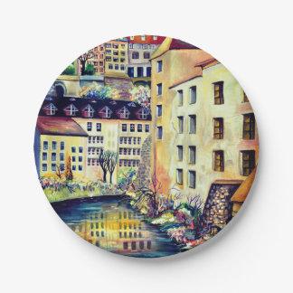 Stockholm - Gamla Stan, alte Stadt, Schweden Pappteller
