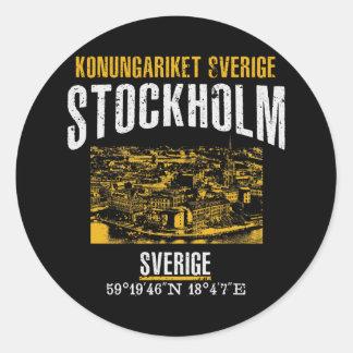 Stockholm Runder Aufkleber