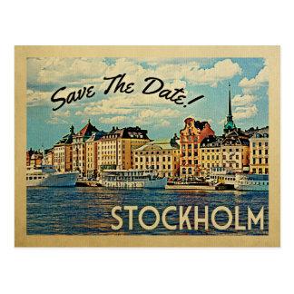 Stockholm Save the Date Schweden Postkarte
