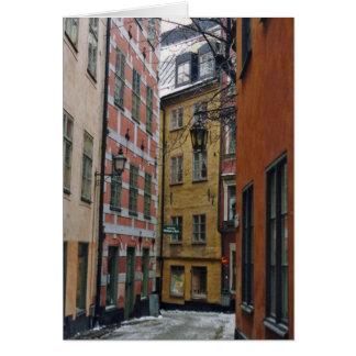 Stockholm-Straßen-Szenen-Karte Karte
