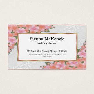 Stoff mit Blumen Visitenkarten