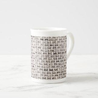 Stoffhintergrund Porzellan-Tasse