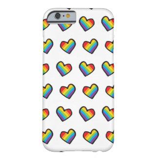 Stolz der Regenbogen-Herz-LGBT Barely There iPhone 6 Hülle