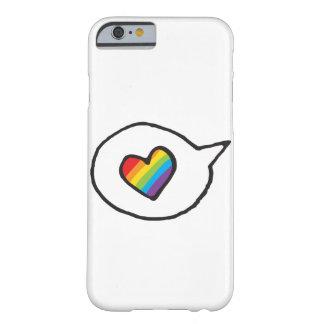 Stolz der Regenbogen-Herz-Sprache-Blasen-LGBT Barely There iPhone 6 Hülle