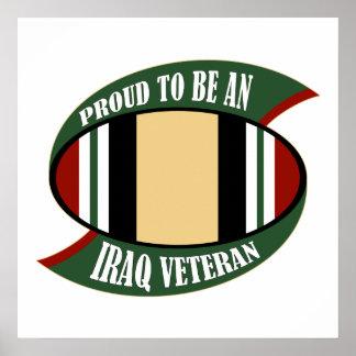 Stolz, ein der Irak-Veteran zu sein Poster