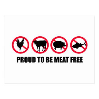 Stolz, Fleisch zu sein geben Sie frei Postkarte