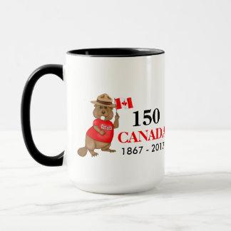 Stolz kanadischer Jahrestag des Biber-150 Tasse