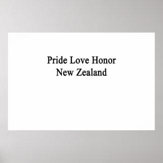 Stolz-Liebe-Ehre Neuseeland Poster