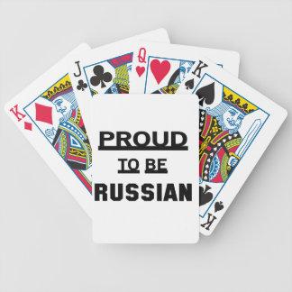 Stolz, russisch zu sein pokerkarten