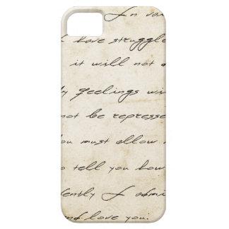 Stolz- und Vorurteilhandschrift archivalisch iPhone 5 Schutzhüllen