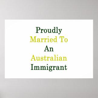 Stolz verheiratet zu einem australischen poster