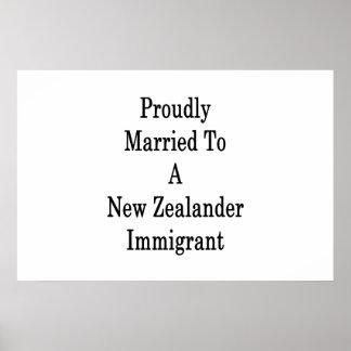 Stolz verheiratet zu einem neuseeländischen poster
