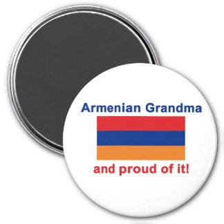 Stolze armenische Großmutter Runder Magnet 7,6 Cm