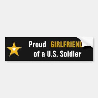 Stolze Freundin eines US-Soldaten Autoaufkleber