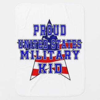 Stolze Militärkinderbaby-Decke - Weiß Puckdecke