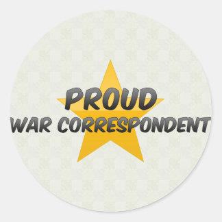 Stolzer Kriegskorrespondent Runder Aufkleber