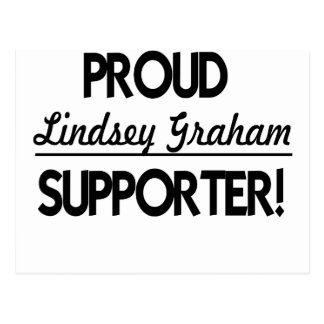 Stolzer Lindsey Graham Anhänger! Postkarte