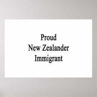 Stolzer neuseeländischer Immigrant Poster