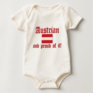 Stolzer Österreicher Baby Strampler