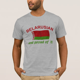 Stolzes belarussisches T-Shirt