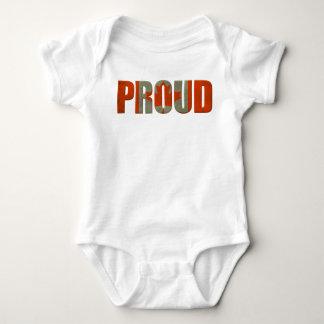 Stolzes Kanadier-Kanada-Flaggen-Shirt Baby Strampler