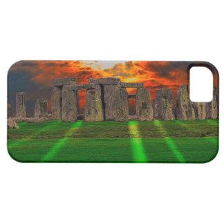 Stonehenge stehende Steine am Sonnenuntergang iPhone 5 Schutzhülle