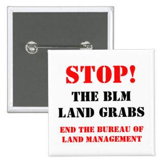 Stoppen Sie BLM Quadratischer Button 5,1 Cm