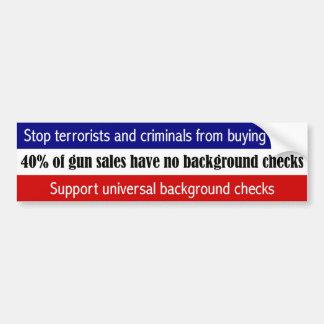 Stoppen Sie die Terroristen u. Verbrecher, die Autoaufkleber