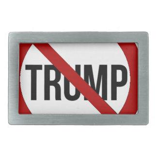 Stoppen Sie Donald Trump Anti-Trumpf 2016 Rechteckige Gürtelschnalle