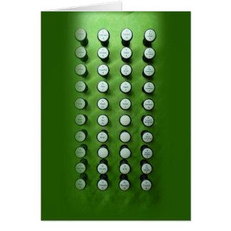 Stoppen Sie grüne Konsole der Griffe Karte
