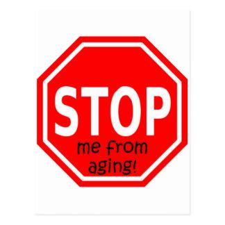 STOPPEN Sie mich vom Altern! Postkarten